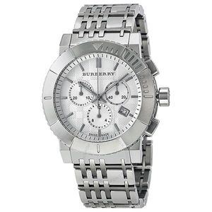 BURBERRY Chronograph Silver Dial Stainless Steel